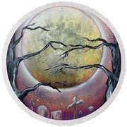 The Graveyard Round Beach Towel