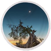 The Great American Eclipse On August 21 2017 Round Beach Towel