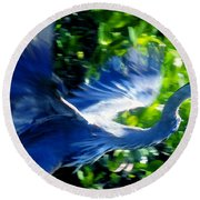 The Great Blue Round Beach Towel