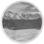 The Great Colorado Sand Dunes  Round Beach Towel