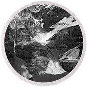 The Great Divide Bw Round Beach Towel