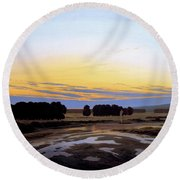 The Great Enclosure Near Dresden Round Beach Towel