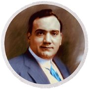 The Great Enrico Caruso Round Beach Towel