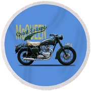 The Great Escape Motorcycle Round Beach Towel