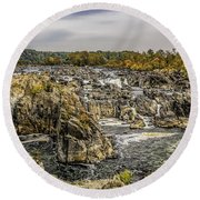 The Great Falls Of The Potomac Round Beach Towel