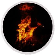 The Great Fire Round Beach Towel
