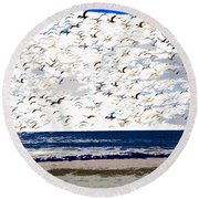The Great Flock Round Beach Towel