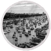 The Great Flotilla Round Beach Towel