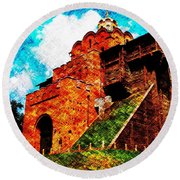 The Great Gate At Kiev Round Beach Towel