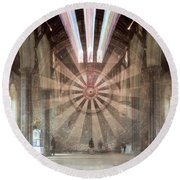 The Great Hall, Winchester Castle, Hampshire Zoom Burst Round Beach Towel