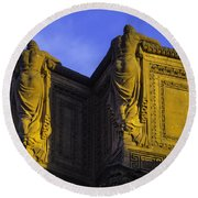 The Great Palace Of Fine Arts Round Beach Towel