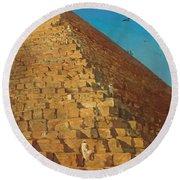 The Great Pyramid. Giza Round Beach Towel