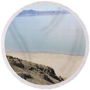 The Great Salt Lake 2 Round Beach Towel