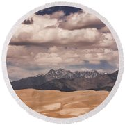 The Great Sand Dunes 88 Round Beach Towel by James BO  Insogna