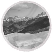 The Great Sand Dunes Bw Print 45 Round Beach Towel by James BO  Insogna