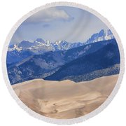 The Great Sand Dunes Color Print 45 Round Beach Towel
