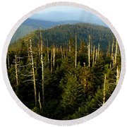 The Great Smoky Mountains Round Beach Towel