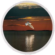 The Holy Spirit Round Beach Towel