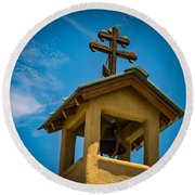 The Greek Orthodox Belfry Round Beach Towel