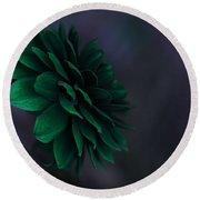 The Green Flower 2 Round Beach Towel