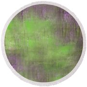 The Green Fog Round Beach Towel