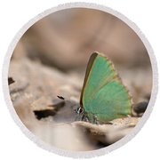 The Green Hairstreak Round Beach Towel