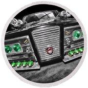 The Green Hornet - Black Beauty Round Beach Towel