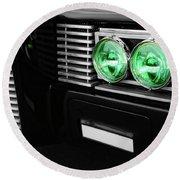 The Green Hornet Black Beauty Clone Car Round Beach Towel