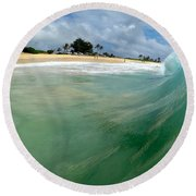 The Green Monster  Round Beach Towel