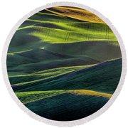 The Green Waves Of Palouse Wa Dsc05032  Round Beach Towel