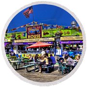 The Grill House Round Beach Towel