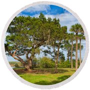 The Grounds Of The Kingsley Plantation Round Beach Towel