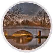 The Grove Bridge On The Grand Union Canal  Round Beach Towel