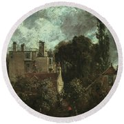 The Grove Or The Admiral's House In Hampstead Round Beach Towel
