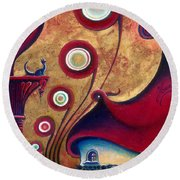 The Guardian Of Changes The Destiny Round Beach Towel