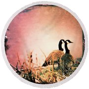 The Guardians  Round Beach Towel