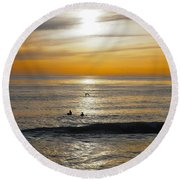 The Gull And Us Round Beach Towel