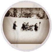 The Guns Of Gettysburg Round Beach Towel