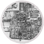 The Hague: Map, C1650 Round Beach Towel