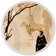 The Hangman's Tree Round Beach Towel