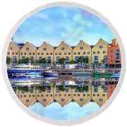 The Harbor At Galway Round Beach Towel