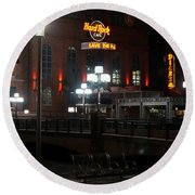 The Hard Rock At The Inner Harbor Round Beach Towel