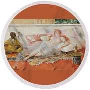 The Harem's Incense Round Beach Towel