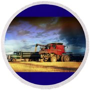 The Harvest Run Round Beach Towel