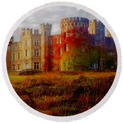 The Haunted Castle Round Beach Towel