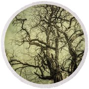 The Haunted Tree Round Beach Towel