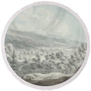The Head Of Ullswater Round Beach Towel