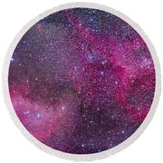 The Heart And Soul Nebulae Round Beach Towel
