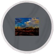 The Heart Of Cave Creek Round Beach Towel