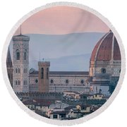 The Heart Of Florence Italy Round Beach Towel